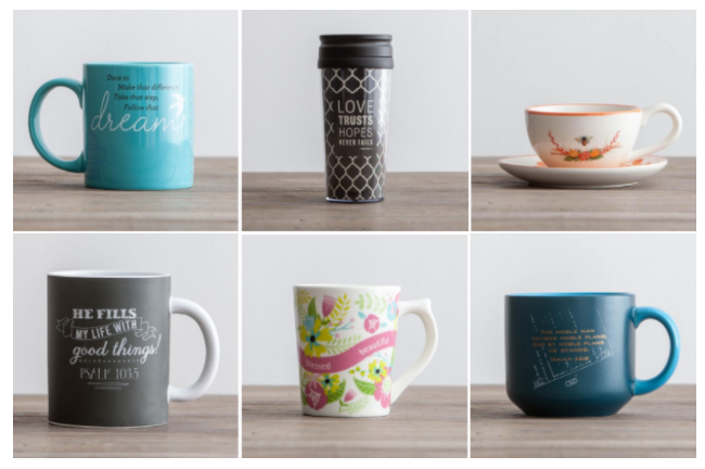 DaySpring: Buy one, get one free coffee mugs, teacups, bottles, and travel mugs!