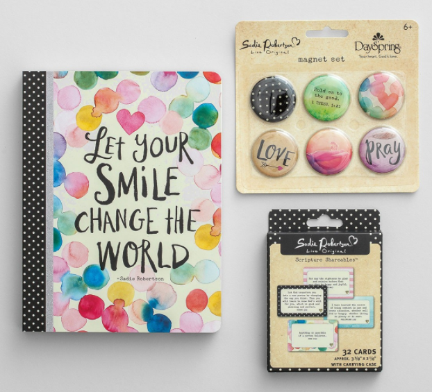 DaySpring: Sadie Robertson Journal, Scripture Shareables, and Magnets Gift Set for just $10 shipped!