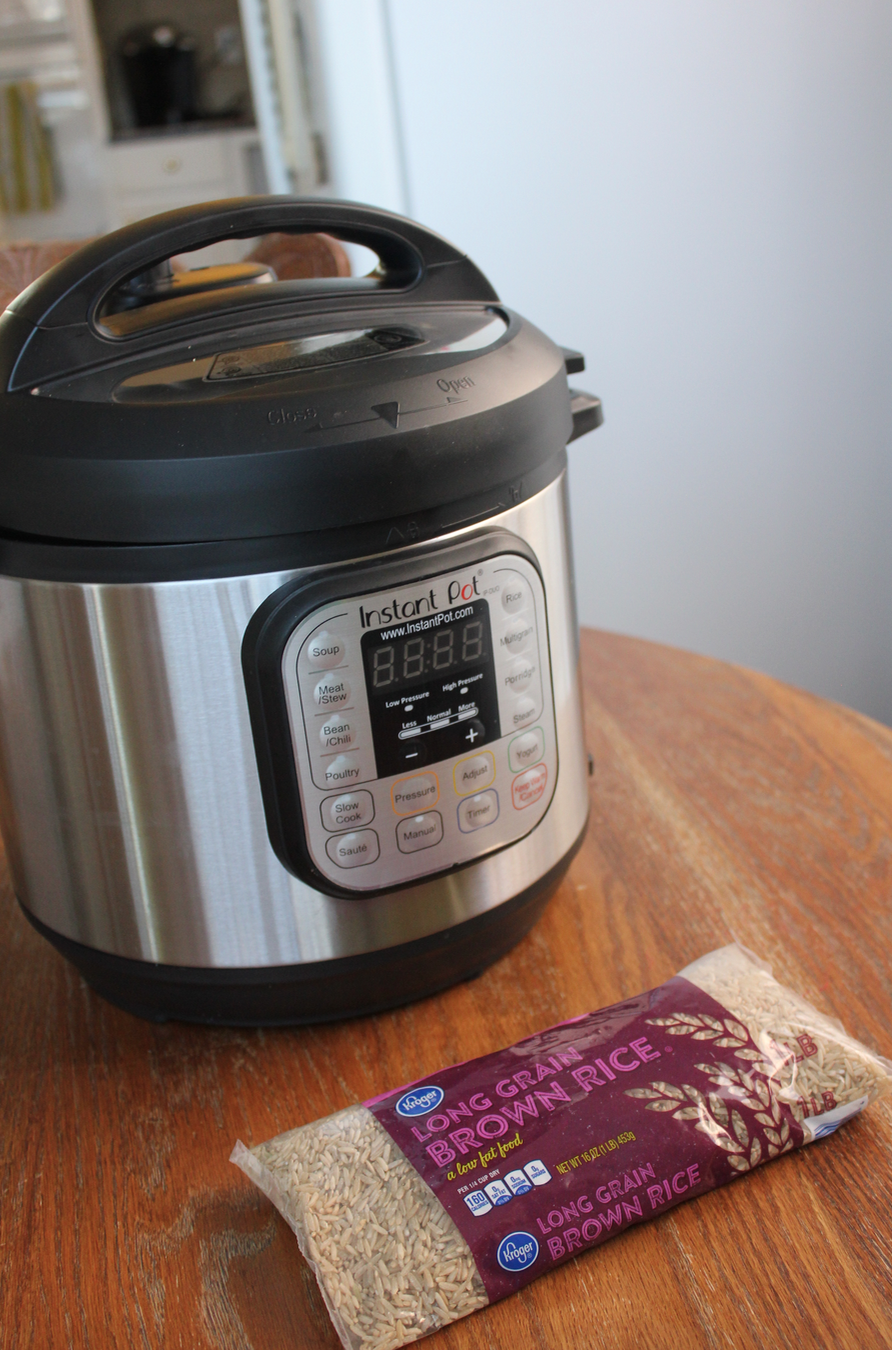 instant pot how to cook brown rice