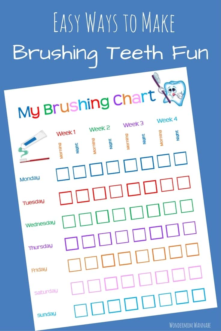 graphic relating to Printable Tooth Brushing Charts identified as Absolutely free Printable Teeth Brushing Chart Dollars Conserving Mother