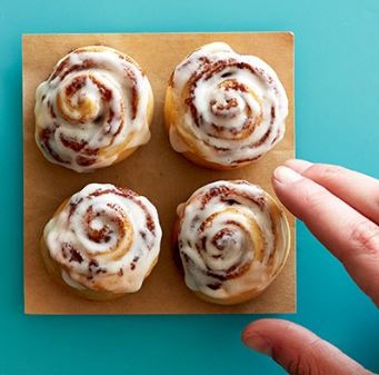 Cinnabon: Free BonBites today from 5 to 7 p.m.