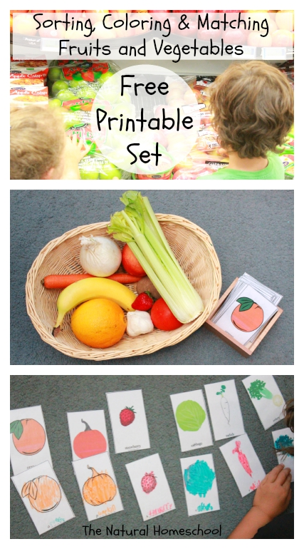 Free Fruits and Vegetables Printable Pack