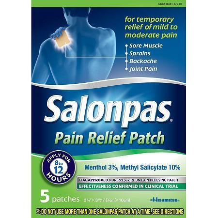 Free Salonpas Pain Relieving Patch sample