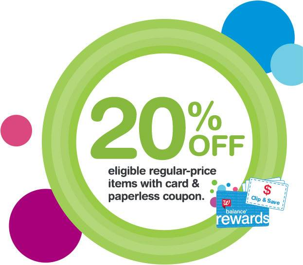Walgreens.com: Get an extra 20% off regular price items today!