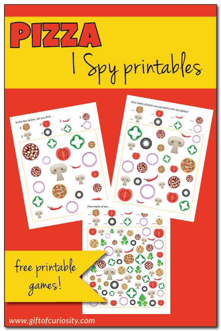Free Pizza I Spy Printables