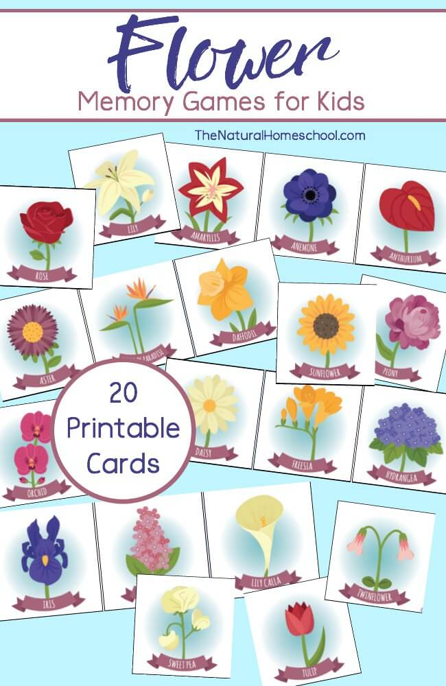 Free Printable Flower Memory Games for Kids