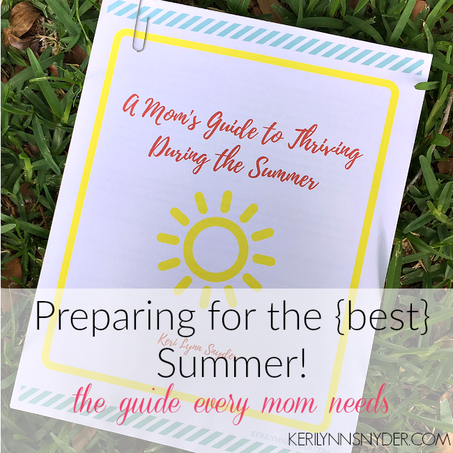 Free Printable Mom's Guide to Thriving This Summer
