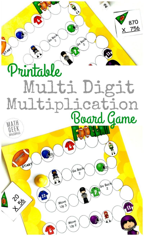 Free Printable Multi Digit Multiplication Board Game