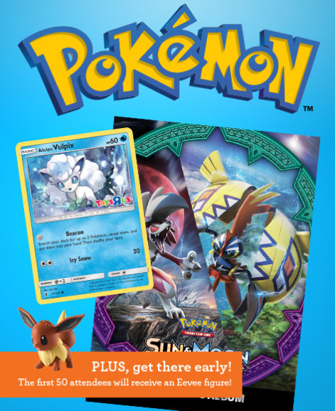 Toys R Us: Free Pokemon Trade & Collect Event on May 13, 2017