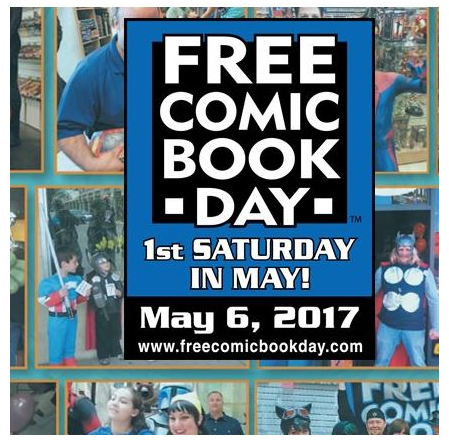 Free Comic Book Day on May 6, 2017