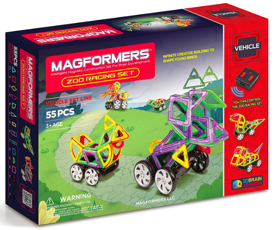 Amazon.com: Magformers Vehicle Zoo Racing Set (55-pieces) just $56.05, shipped!