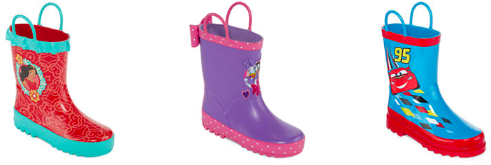 JCPenney.com: Kid's Disney Rain Boots only $12.49!