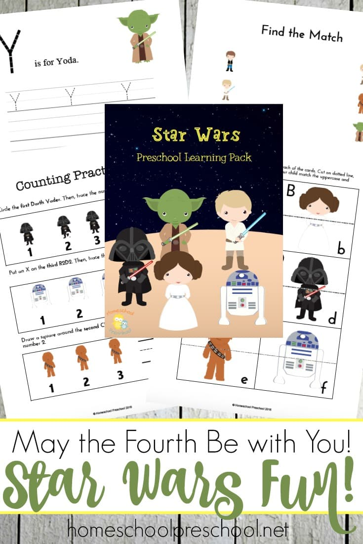 Free Printable Stars War May the Fourth Be With You Preschool Pack