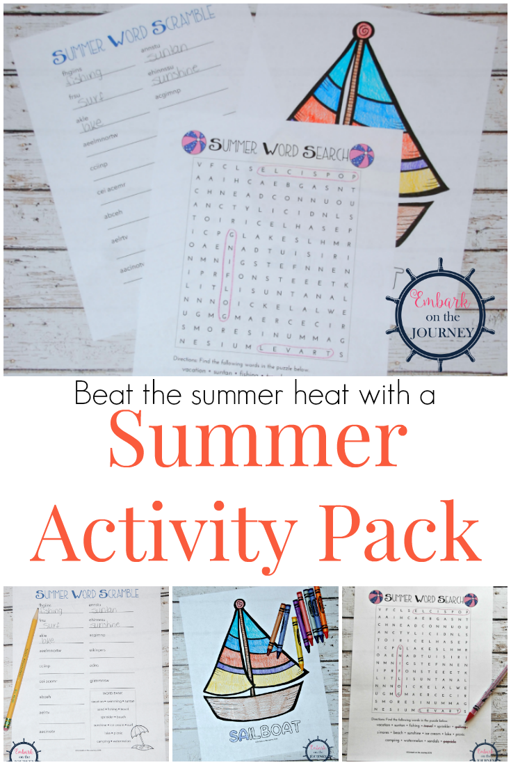Free Printable Fun in the Sun Activity Pack