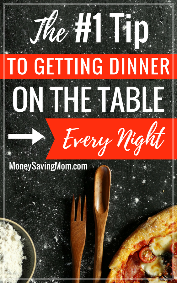 Get dinner on the table every single night with this ONE super easy tip! It makes weekday family dinners SO much simpler!
