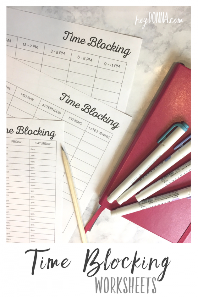 Free Printable Time Blocking Worksheets