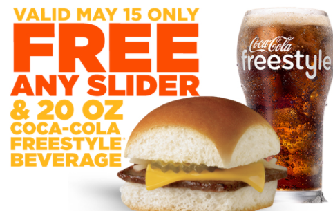 White Castle: Free Slider & Soda Today!
