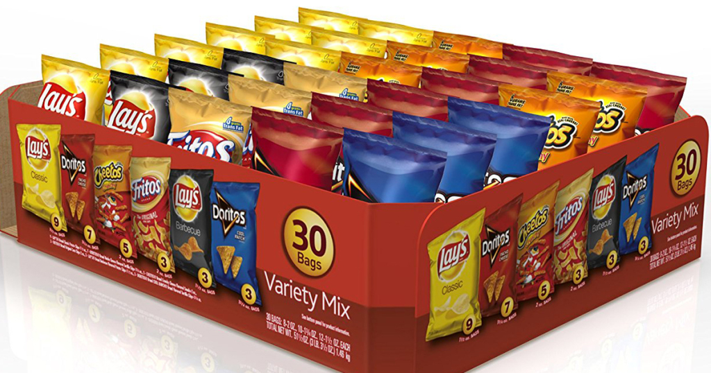 Amazon.com: Frito-Lay Variety Pack Snack Bags, 30-Count for just $8.07 shipped!