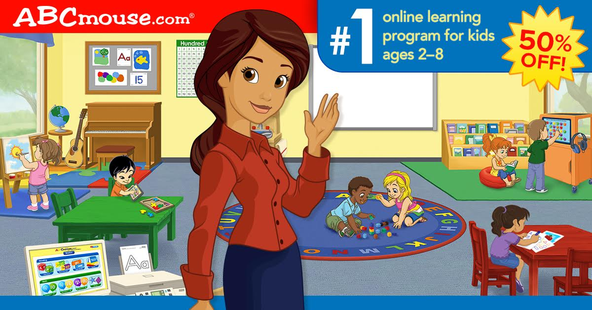Get 50% off an annual subscription to ABCmouse.com Early Learning Academy!