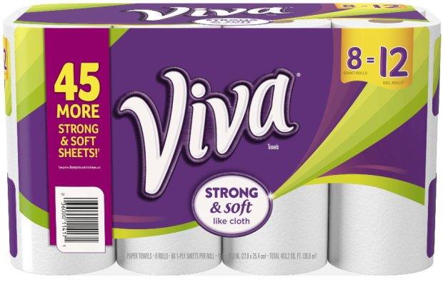 Target: Get Viva Paper Towels Giant Rolls for just $0.75 per roll!