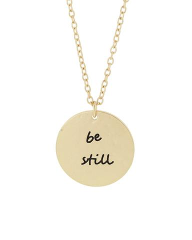 Be Still Disc Necklace