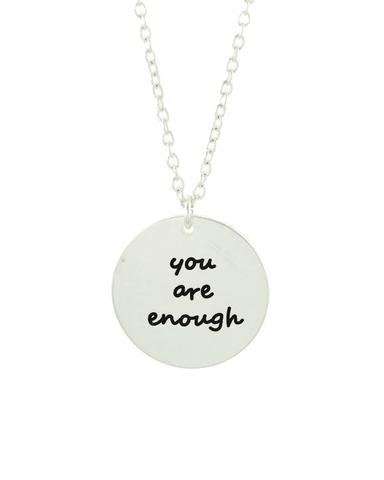 You Are Enough Disc Necklace