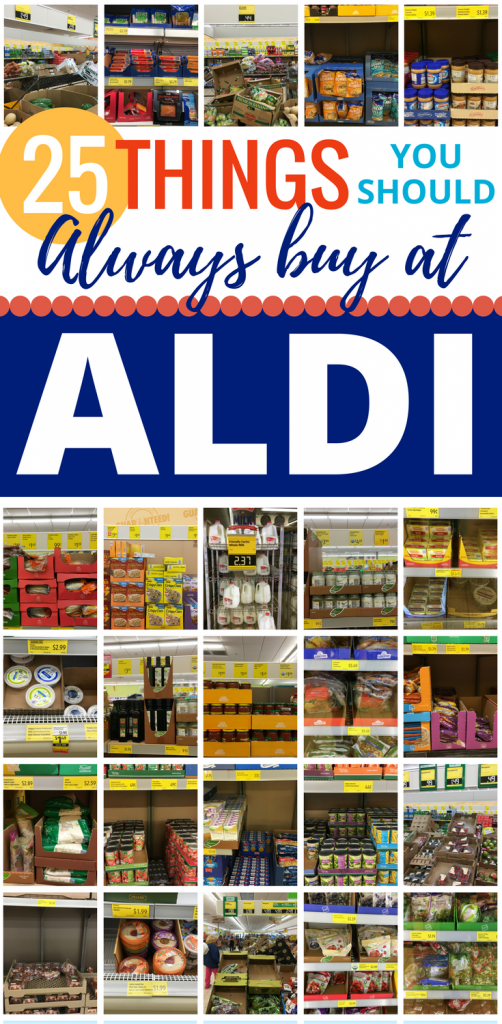 Spending your grocery budget at ALDI? This list is SO helpful to know which items are HOT deals that will save you tons of money at ALDI!