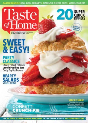 Free Taste of Home magazine subscription