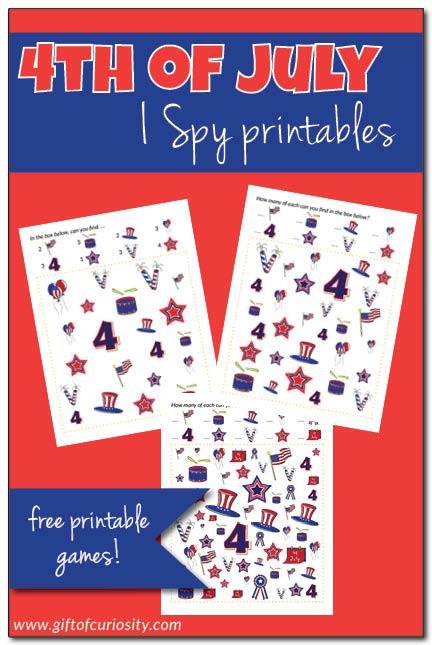 Free 4th of July I Spy Printables