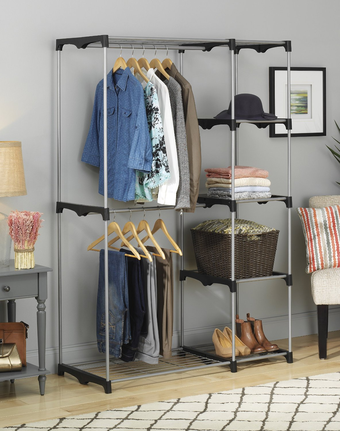 Amazon.com: Whitmore Double Rod Freestanding Closet For Just $32.15 Shipped!