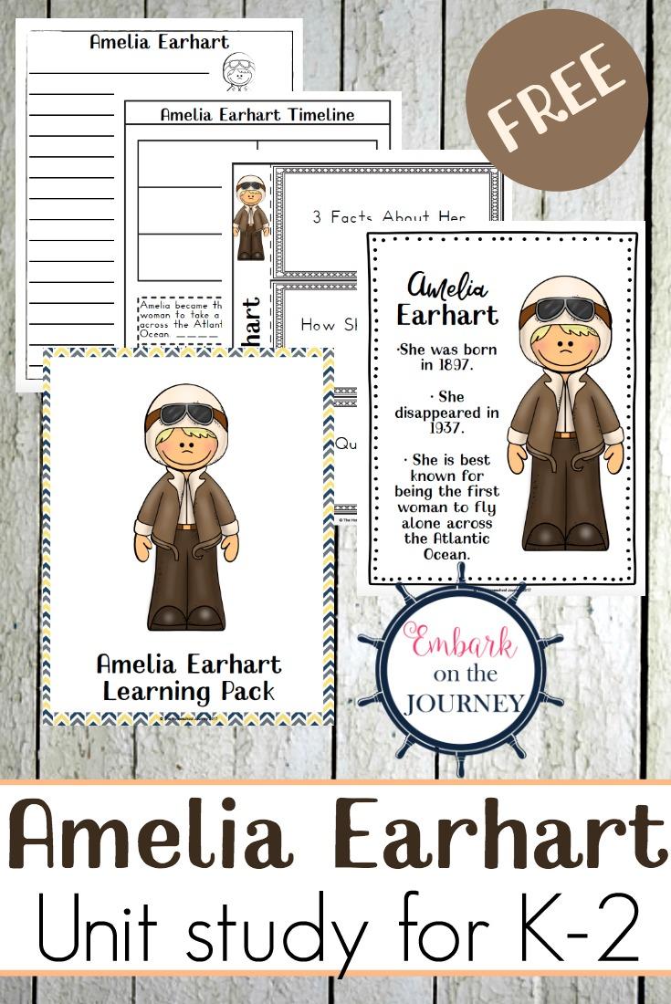 Free Printable Amelia Earhart Unit Study