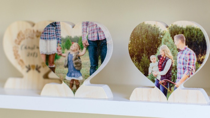 PhotoBarn: Free custom wood photo heart for dad (just pay shipping!)