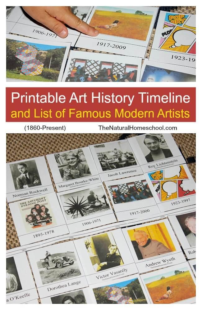 Free Printable Art History Timeline