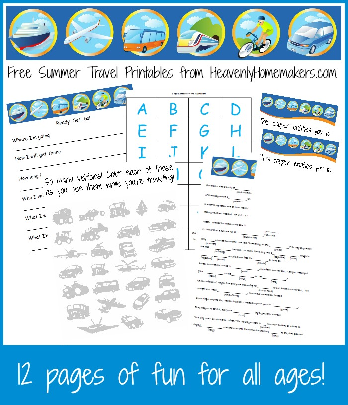 Free Summer Travel Printable Pack