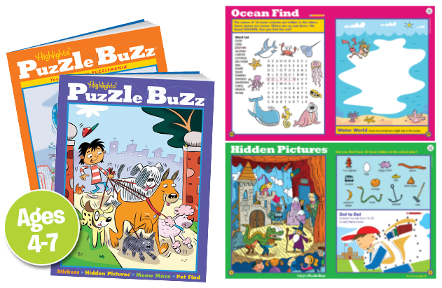 Get two free Highlights Puzzle Buzz Activity Books (just pay $0.99 shipping!)