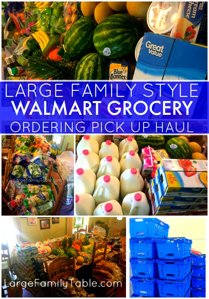 Once-A-Month Walmart Grocery Shopping Haul for a Large Family