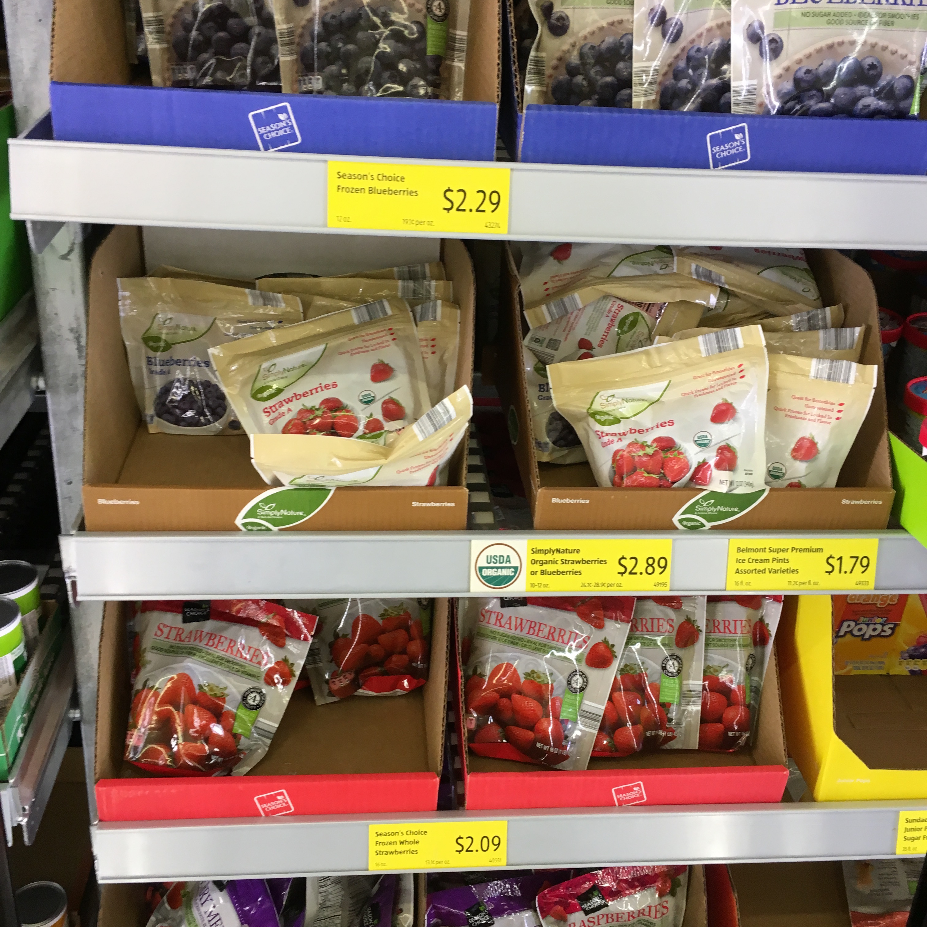 frozen fruit at aldi