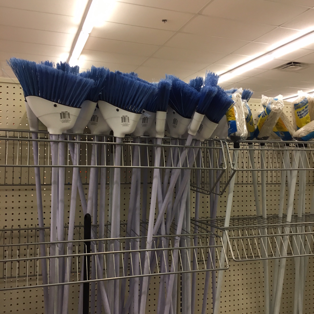 brooms at Dollar Tree