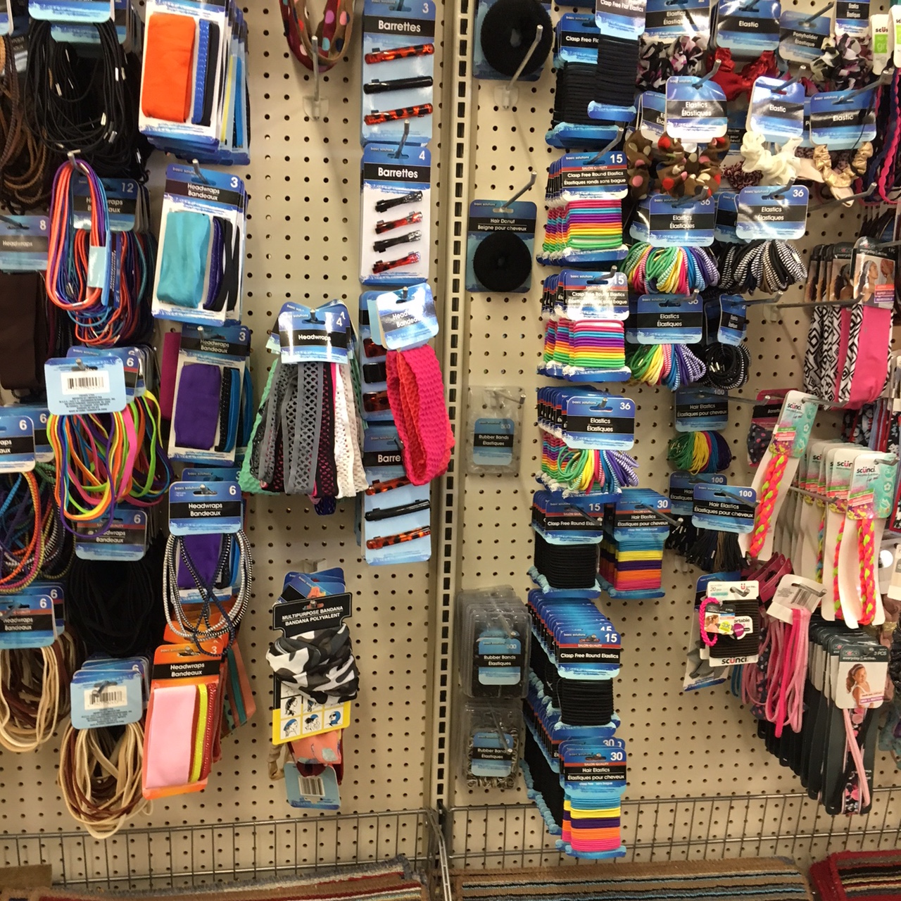 hair accessories at Dollar Tree