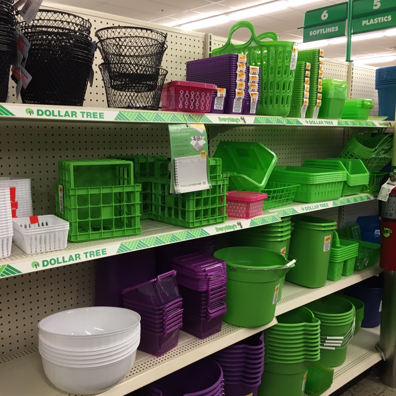 organizational supplies at Dollar Tree