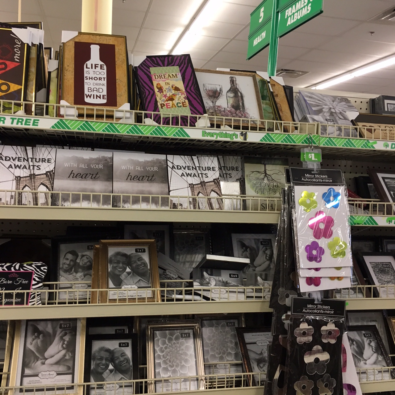 photo frames at Dollar Tree