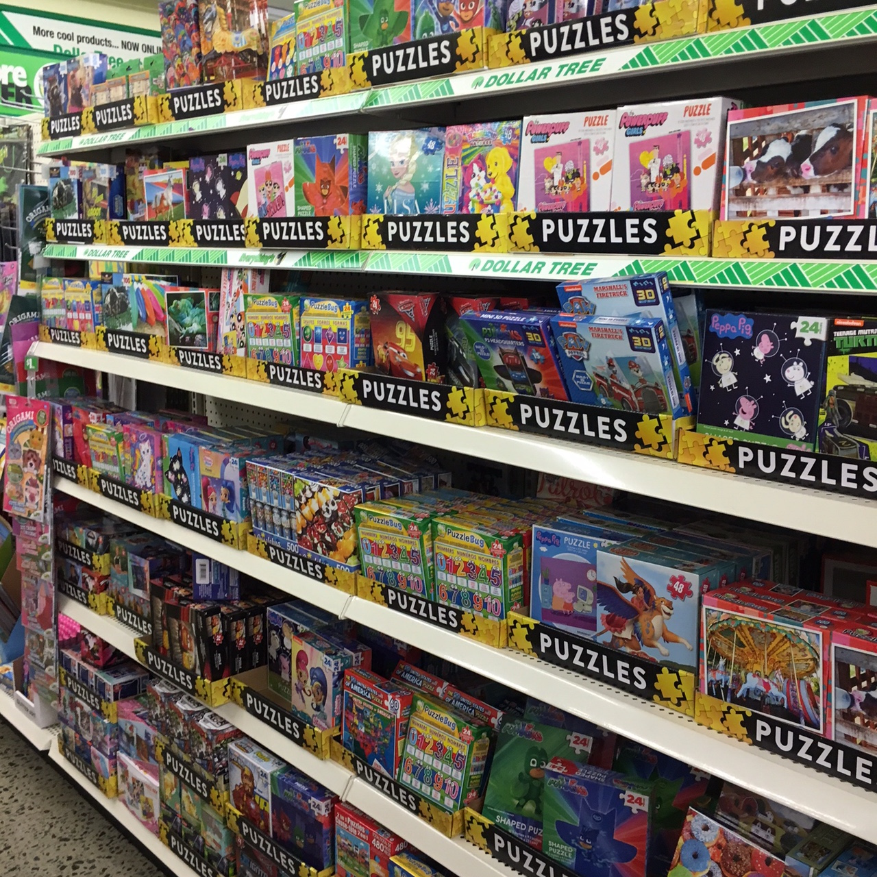 jigsaw puzzles at Dollar Tree