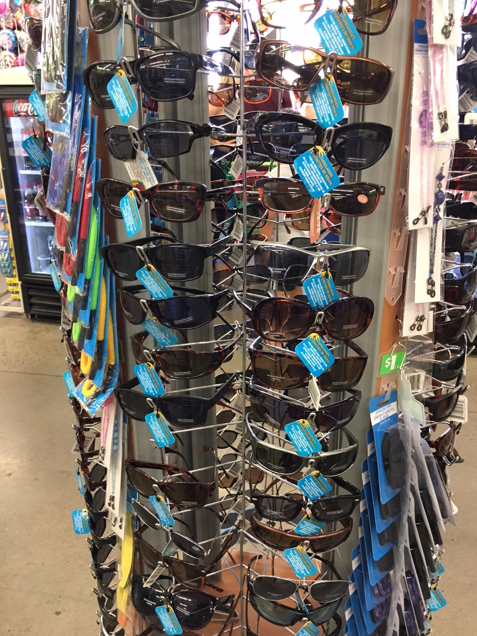 sunglasses at Dollar Tree