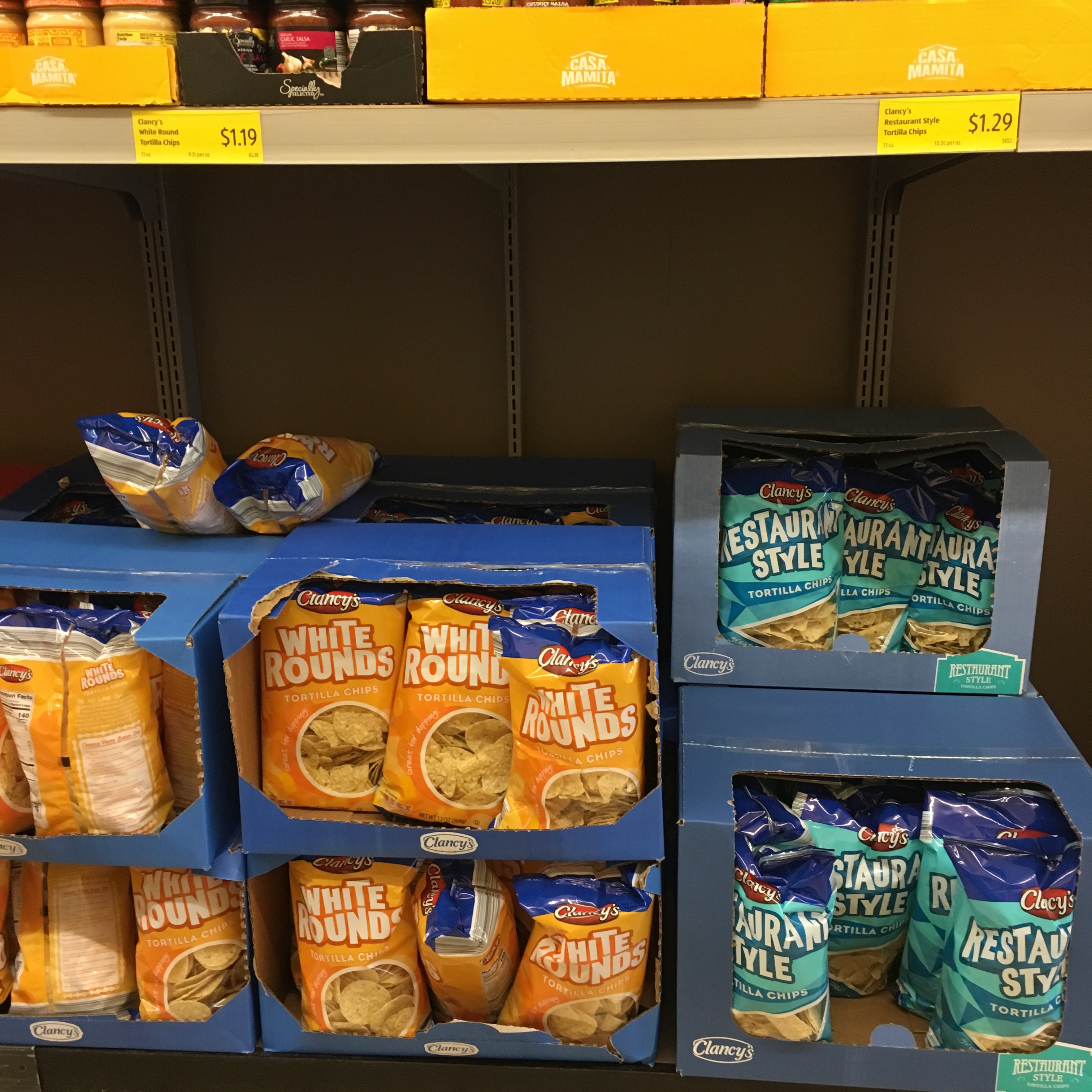 tortilla chips at aldi