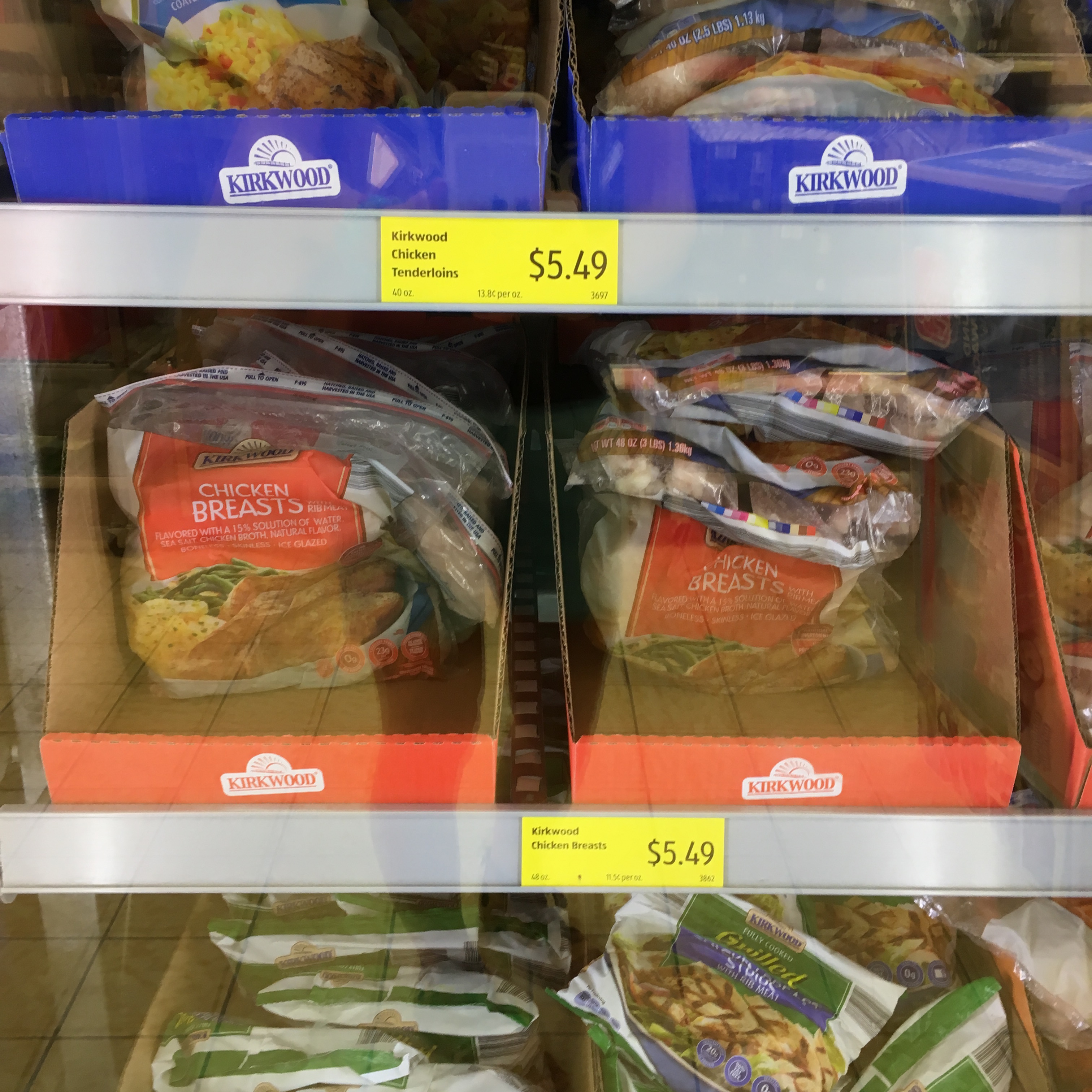 frozen chicken at aldi