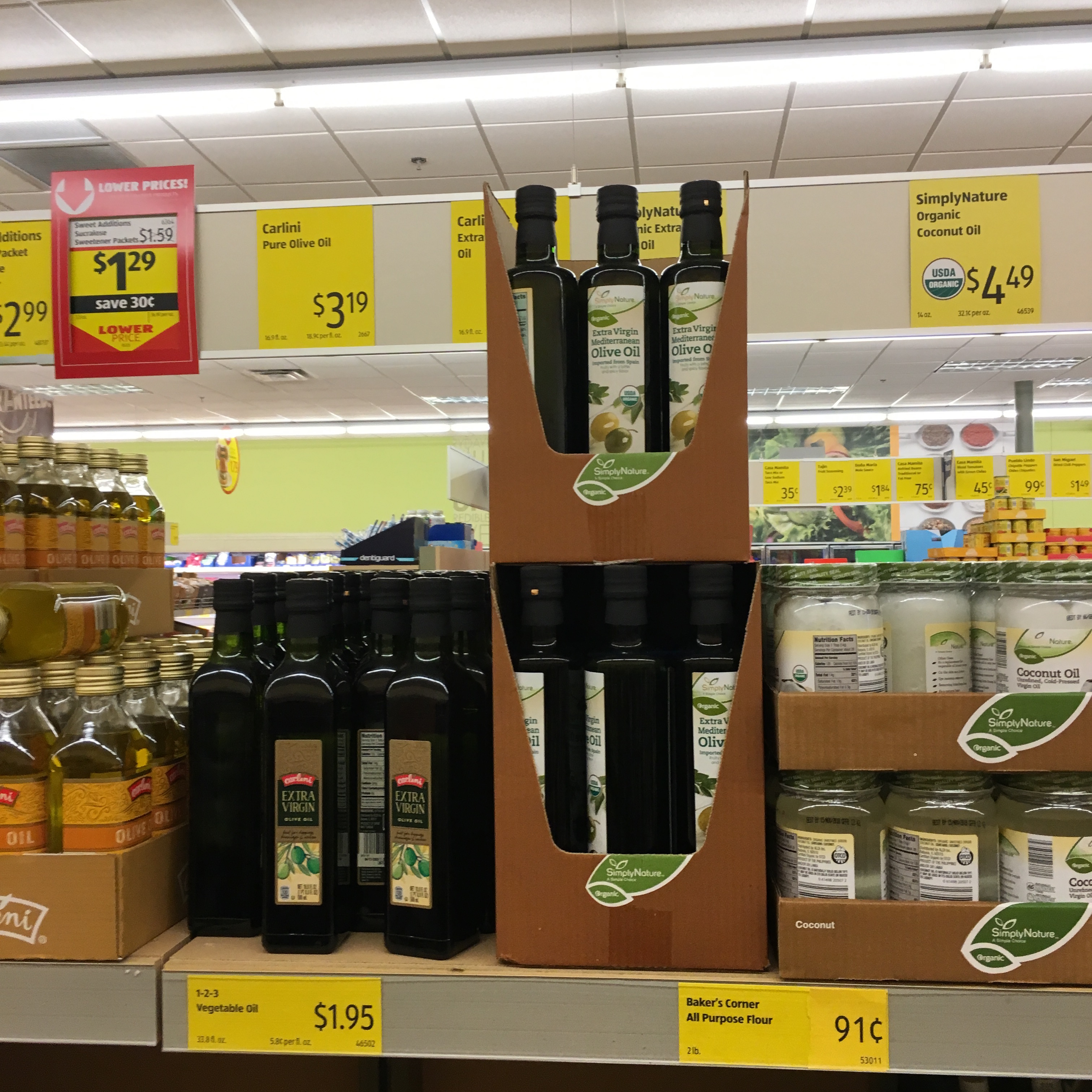 olive oil at aldi