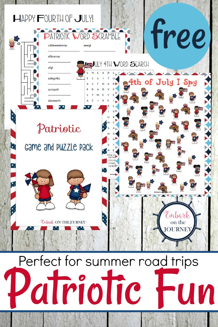 Free Patriotic Games and Puzzles Pack for Kids Printable