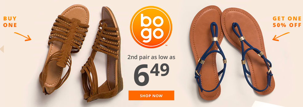 ebec35fe0f0 Payless Shoesource: Buy One, Get One 50% off + additional 15% off ...