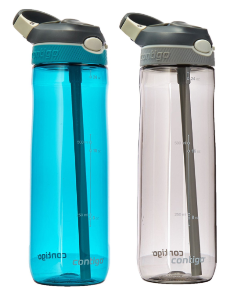 Amazon.com: Two-pack of Contigo Autospout Straw Ashland Water Bottles for just $12.99!