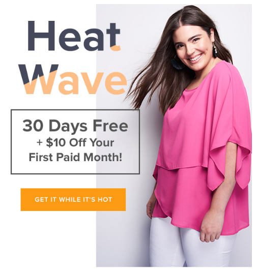 Gwynnie Bee: Get a free 30-day trial + $10 off your first paid month {today only!}